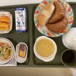 大学病院の朝食(パン)